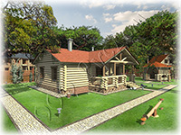 Проект бани - гостевого дома из сруба ручной рубки Елена