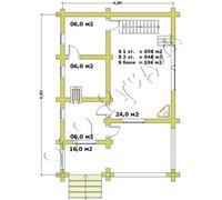План первого этажа гостевого дома бани Глеб