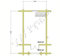План второго мансардного этажа гостевого дома бани Глеб