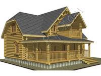 Проект деревянного коттеджа Алиса