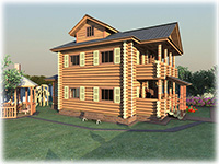 Проект двухэтажного частного коттеджа Белояр для постоянного проживания