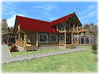 Загородный дом с мансардой и вторым светом, рубленый загородный дом Благослав