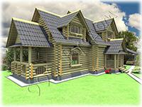 Проект деревянного коттеджа - Загородный дом, проект 1910 года