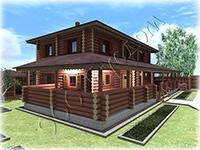 Проект деревянного коттеджа с большой террасой Мечта-3