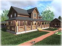Проект деревянного коттеджа с большой верандой Мечта-4