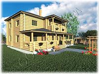 Проект деревянного двухэтажного коттеджа Мечта