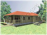 Проект одноэтажного деревянного дома Метелица-5