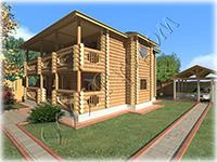 Проект рубленого деревянного коттеджа Руслан-2