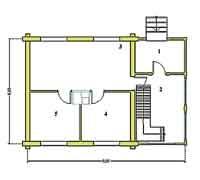 План первого этажа дома Дачник-11