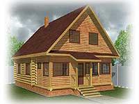 Проект дачного дома с закрытой верандой Дачник-12