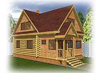 Проект рубленого дачного дома Дачник-15