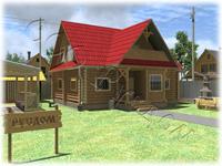Деревянный дом «Дачник-16» - дачный дом для большой семьи. Пять спален, два санузла, большой зал дают возможность с комфортом разместить семью до 10 человек
