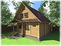 Проект дачного дома 6х8 Дачник-8