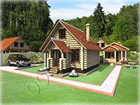Проект дома «Охотник», один из вариантов охотничьего домика разработанный для охотохозяйства