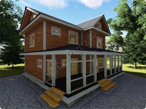 «Аверкий» - Проект двухэтажного каркасного дома