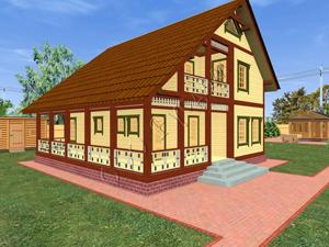 «Константин» каркасный дачный дом с мансардным этажем