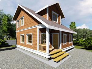 Проект двухэтажного каркасного дома «Дамас» - небольшой каркасный дом классической архитектуры. В проекте дома заложено три спальни, два больших санузла