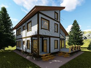 «Устин» - Проект двухэтажного каркасного дома