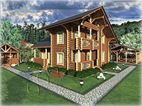 Проект дома разработан в стилистике шале «chalet (фр) - буквально хижина пастуха». Основной отличительный признак шале - сильно выступающие свесы кровли