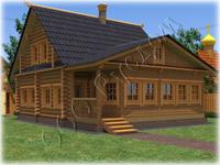 Проект деревянного дома Дергаево-2