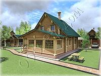 Частный деревянный полутороэтажный дом для круглогодичного проживания «Дергаево-2»