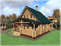 Проект деревянного дома Дергаево