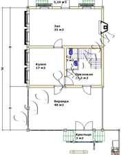 План первого этажа дома отдыха «Артем»