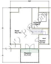 План второго этажа деревянного дома для гостей «Артем»