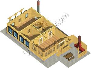 Вид первого этажа дома для гостей «Артем»