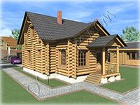 Проект рубленого дома с мансардой Инна