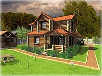 Деревянный двухэтажный дом в классическом русском стиле «Слободка-2»
